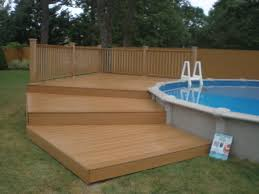 Wooden Pool Decks Sharkline Pool With Deck Brothers 3 Pools Aboveground Semi