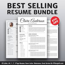 Best Selling Resume Templates The Claire Resume Cv Bundle