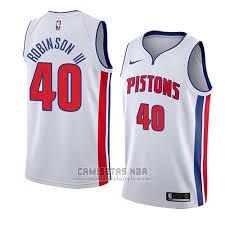 Association Iii Robinson 2018 Camiseta Glenn 40 Pistons Blanco Detroit