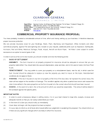 10 best images of commercial insurance proposal sample sample