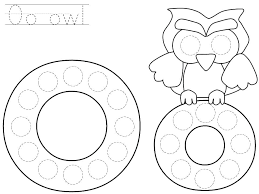 Do A Dot Coloring Pages Art Free Printable Star Worksheet Letter O