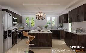 op15 hpl07 modern high gloss wood grain hpl kitchen cabinet