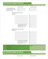 Monthly Family Budget Template Printable Svitua