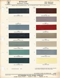 1965 Pontiac Color Chart Pin By Wayne Whitaker On Car Colors Pontiac Gto 1965
