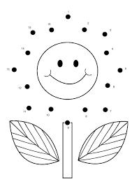 Free Online Printable Kids Games - Flower Dot To Dot   Gaming ...