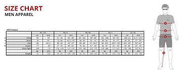 body measurement chart for men training kit sizing chart
