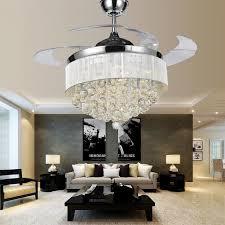 image of new elegant chandelier ceiling fans