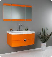 solid wood bathroom vanities made in usa awesome fresca energia 36 orange modern bathroom vanity
