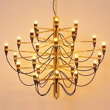 prodotto caldo gino sarfatti designed 2097 chandelier 30 bulbs lights chandelier living room pendant