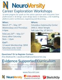 autism council of utah career exploration workshops neuroversity career exploration workshops neuroversity