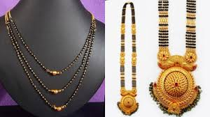 Broad Chain Designs Top 9 Beautiful Mangalsutra Necklace Designs With Images