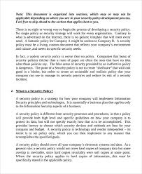 policy templates sample it security policy template 9 free documents download in