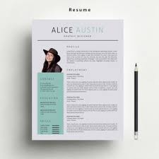 Etsy Resume Template Simple Resume Template With FREE Matching Cover From Marufstudio On Etsy