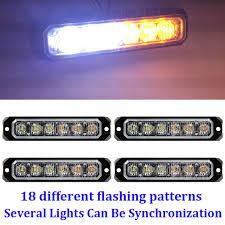 Led Caution Lights Details About 4pcs White Amber 6 Led Emergency Warning Hazard Caution Flash Sync Strobe Lights