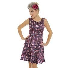 Lindy Bop Size Chart Oda Purple Ballet Print Dress By Lindy Bop