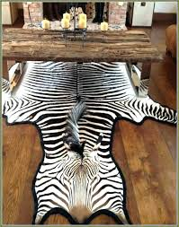 faux zebra hide rug classic real for designs 8