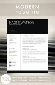Modern Resume Format Modern Resume Template from Resume Foundry This resume is sure to 69