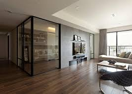 Home Office Partitions Trendy Condominium With Retractable Glass Partitions  For Home DESIGN IDEAS