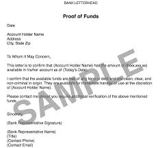 Proof Of Purchase Template Sample Proof Of Funds Letter Business Mentor
