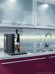kitchen cabinets modern red burdy aluminum frame glass li