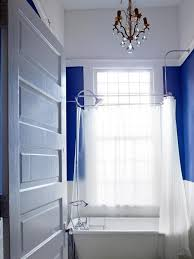simple small bathroom decorating ideas. Royal Blue Bathroom With White Slipper Tub Simple Small Decorating Ideas S