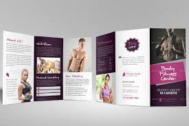 Gym Brochure Gym Fitness Trifold Brochure Indesign Template By JanySultana 6