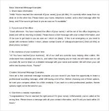 Voicemail Message Templates Barca Fontanacountryinn Com