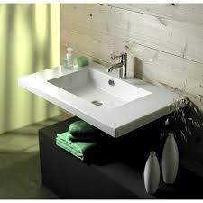 bathroom sink tecla mar02016 rectangular white ceramic wall mounted or drop in sink