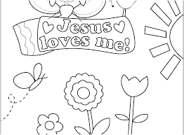 Jesus Loves Me Coloring Pages Printables Loves The Children Coloring