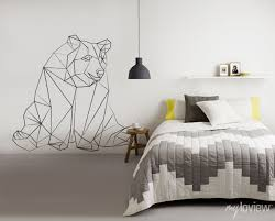 geometric bear sticker from myloview decals wall on geometric bear wall art with wall mural nied wied pinterest geometric bear bears and walls
