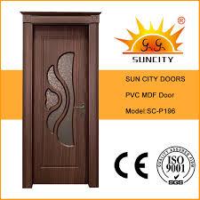 china top design interior door mdf pvc glass doors sc p196 china pvc mdf door pvc door