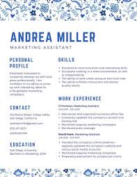 Marketing Assistant Resume Magnificent Orange Striped Marketing Assistant Creative Resume Templates By Canva