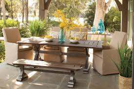 outdoor upholstered furniture. Park Shore Collection Is An Assortment Of Tables W/ All-aluminum Construction That\u0027s Tubular And Die Cast. The Finished Tops Replicate Ash Wood Grain Outdoor Upholstered Furniture E
