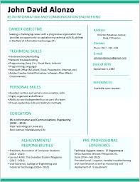 Sample One Page Resume Extraordinary One Page Resume Examples 100 Resume Example Ideas 2