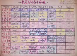 Revision Schedule Template Revision Timetable School Timetable Gcse Revision School