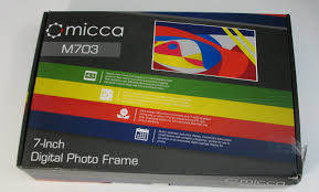 micca m703 7 inch 800x600 high resolution digital photo frame with auto on off