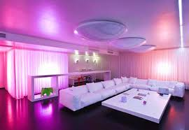 led lighting in homes. Led Lighting For Home Interiors Extraordinary Inteior  Design Pink Colored Curtain Side White Square Table Sofa Glossy Led Lighting In Homes I