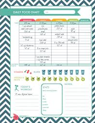 workout and food journal printable fitness logs