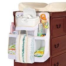 baby nursery storage hang crib organizer diarper shelves table holding toy cream 7
