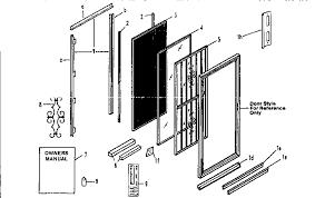sliding patio door parts list designs