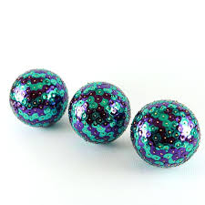 Leopard Decorative Balls Animal Print Decorative Balls Blue Brown Natural Decorative 20