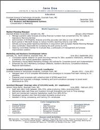 Sample MBA Marketing Resume Marketing MBA Online Degree Programs