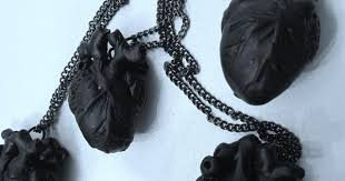 black heart anatomically correct matte