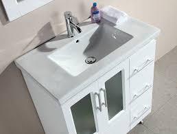Design Element Stanton Single Drop In Sink Vanity Set with White