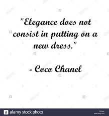 Coco Chanel Quotes Stockfotos Coco Chanel Quotes Bilder Alamy