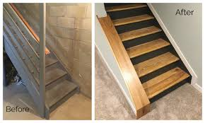 basement stairs. Staircase Remodel - DIY Basement Stair Transformation Stairs