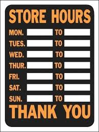 printable store hours sign printable store hours template free printable office signs hours
