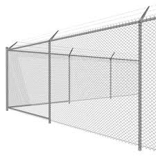 chain link fence texture. 8ft High Chain Link Fence With 3-Strand Barbed Wir. Chain Link Fence Texture
