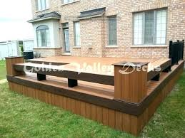 flower boxes for deck railings planter box bench plans torch with and s69