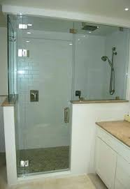 half wall shower glass enclosure awesome showers for block bathroom home design surround panels gl